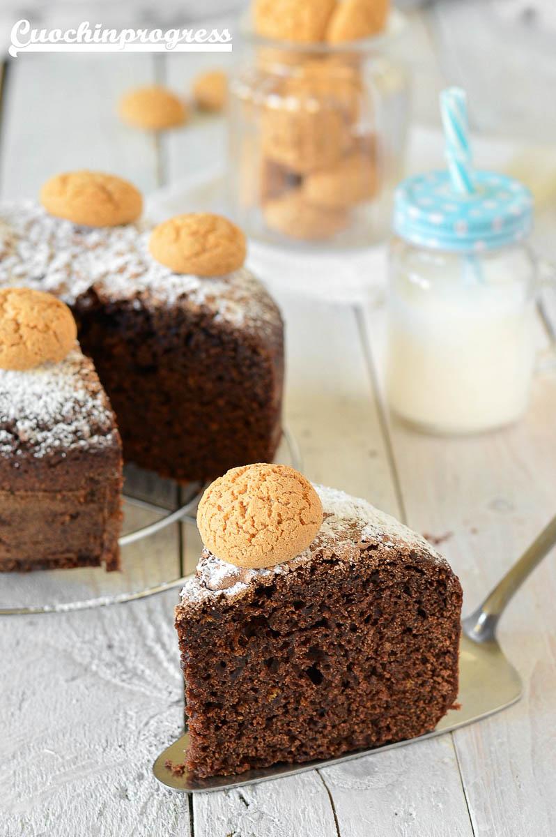torta cacao amaretti e rum