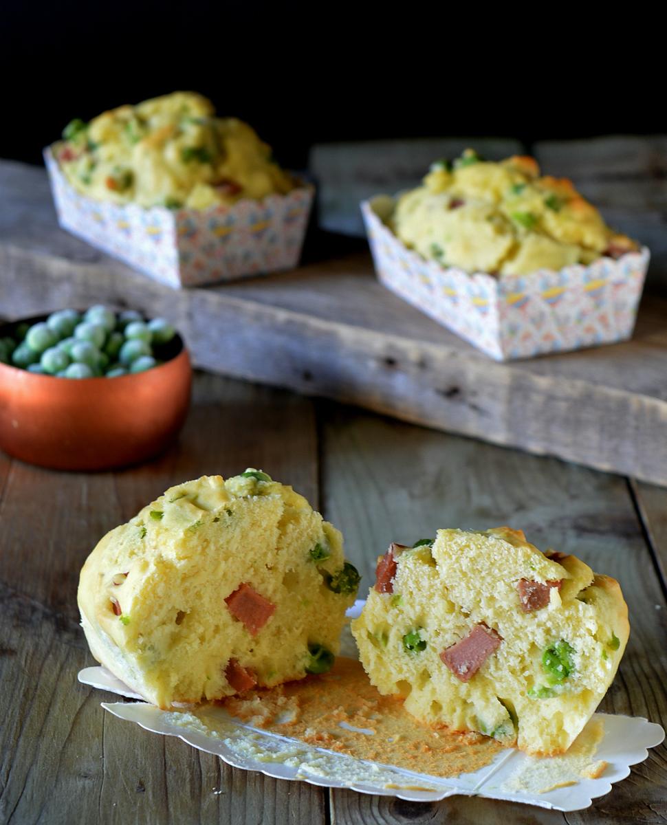 muffin salati piselli