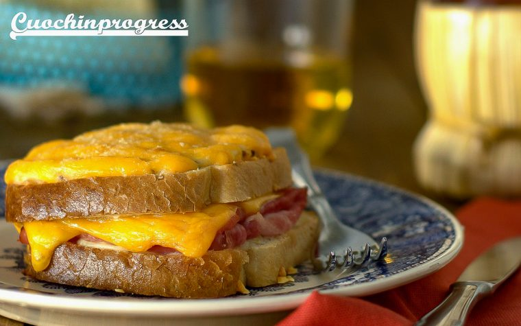 Cheddar croque monsieur