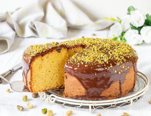 Torta pistacchi e cioccolato
