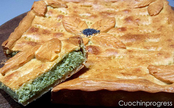 torta rustica ricotta e broccolo