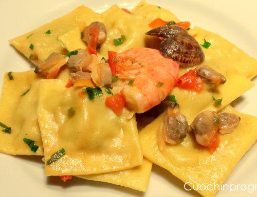 Ravioli di gamberoni e patate