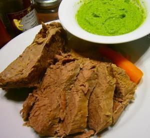 Bollito  piemontese con salsa verde