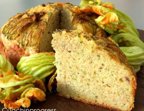 Torta semintegrale alici zucchine e fiori