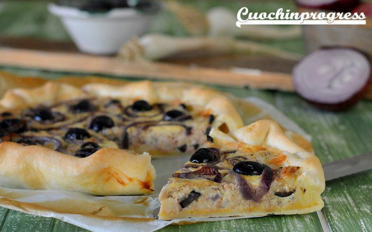 Brisée tonno cipolle e olive