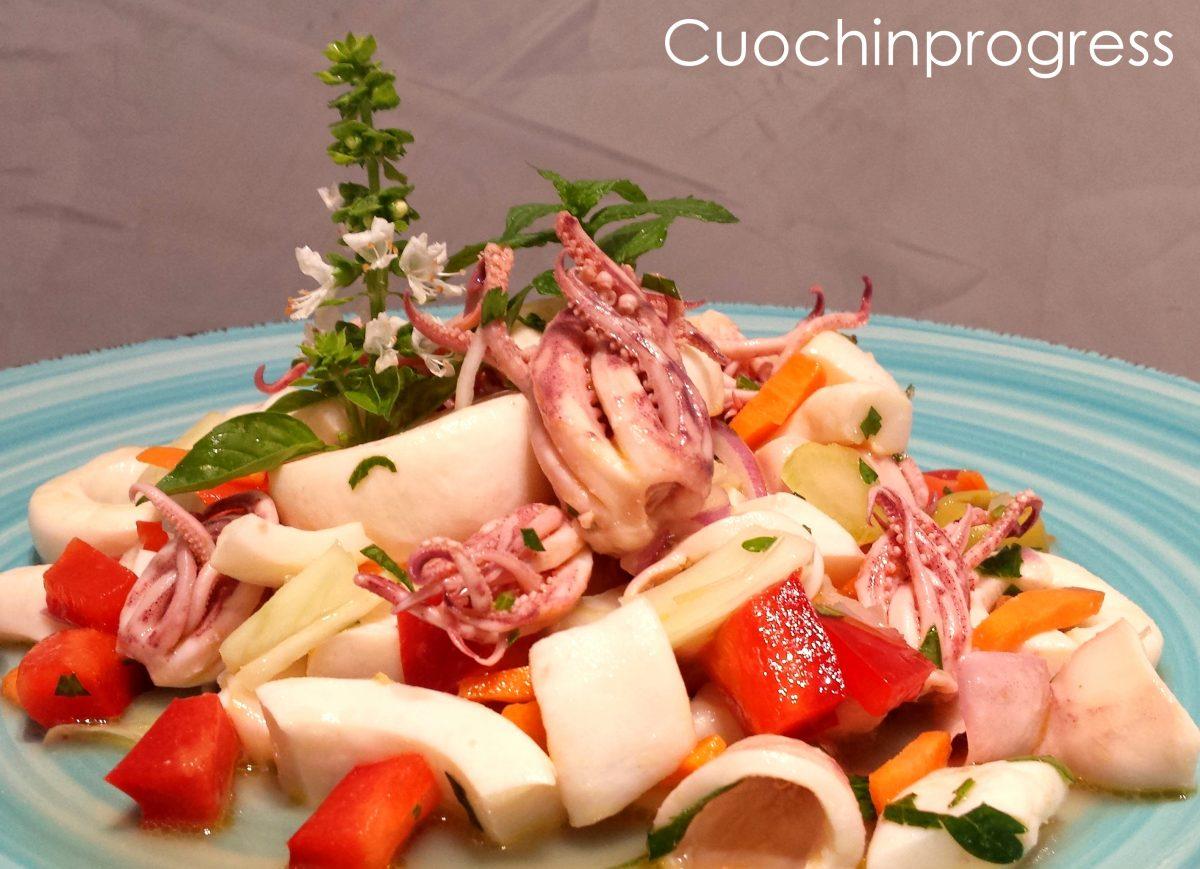 insalata di totani e calamari