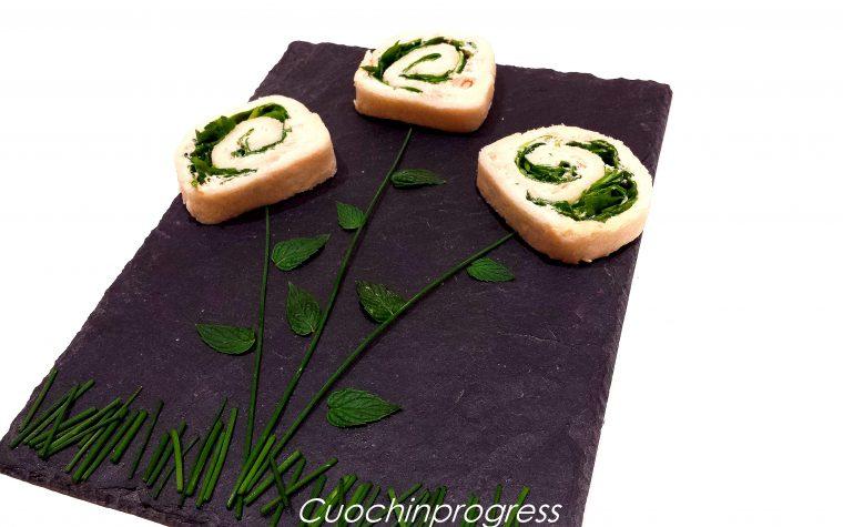 Fiori di pane yogurt greco tonno e rucola