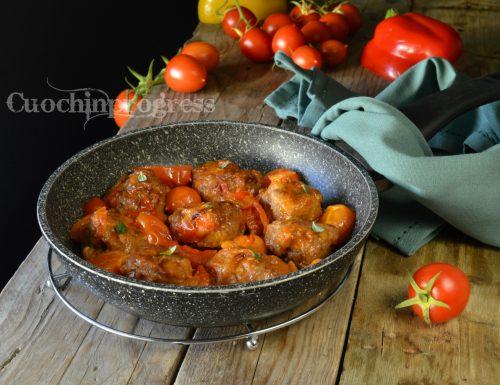 Polpette di carne pane e peperoni