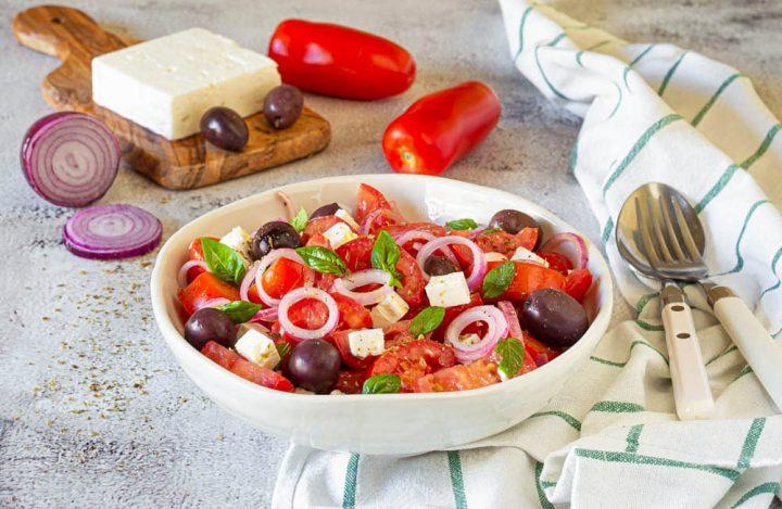 insalata pomodori feta e olive