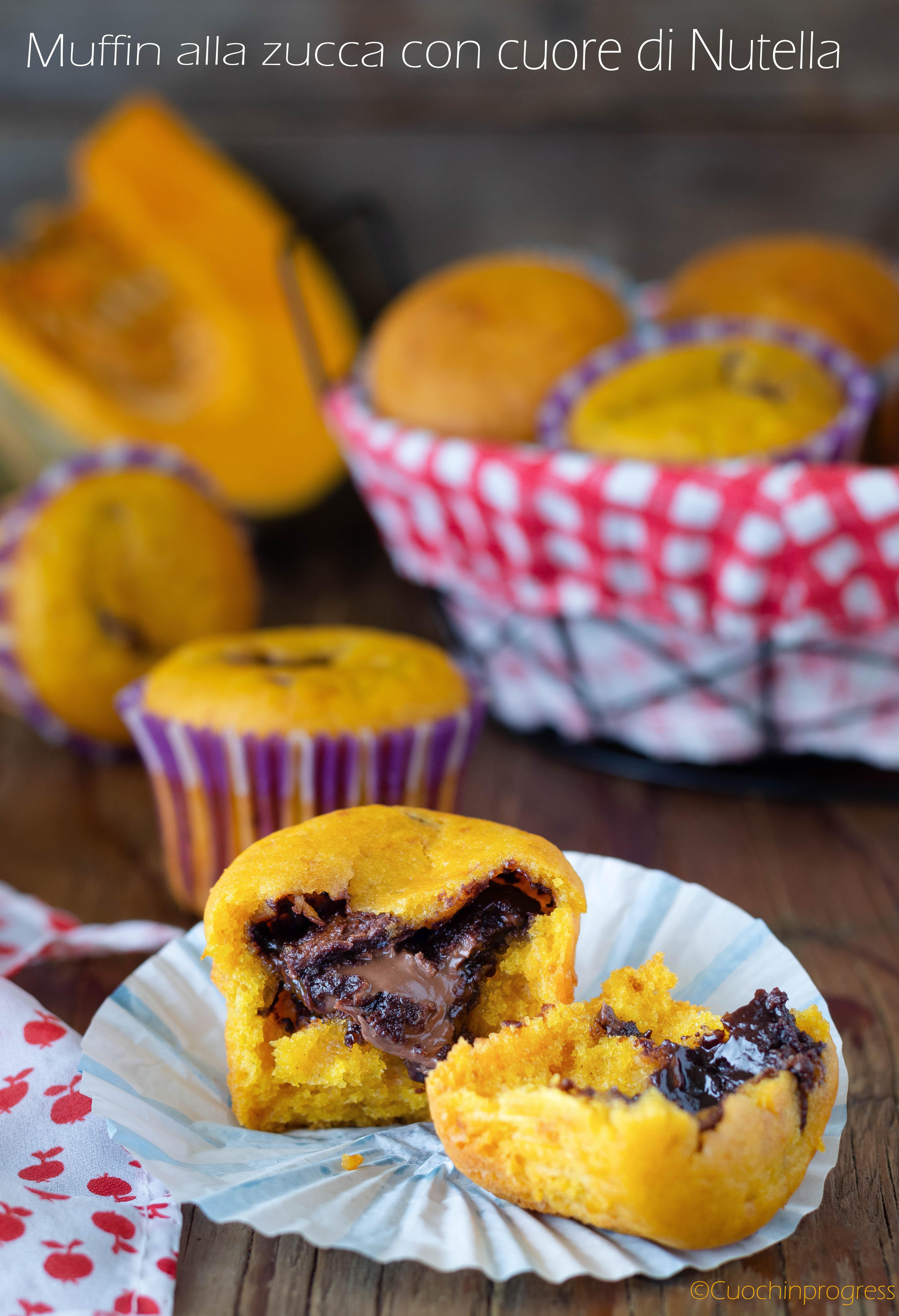 muffin alla zucca con cuore di nutella