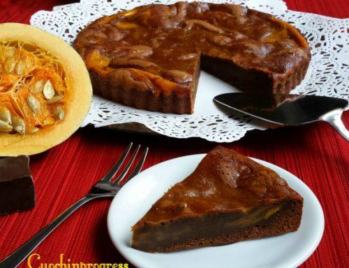 Torta brownie al cioccolato e zucca