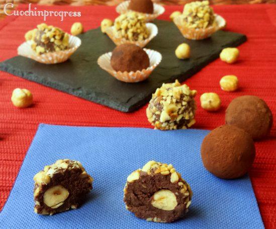 Tartufi al cioccolato ripieni