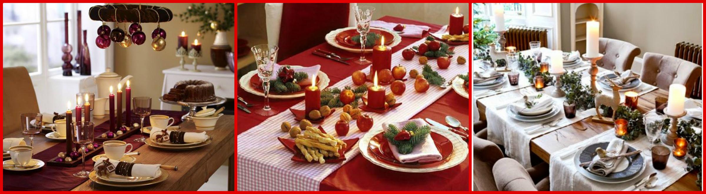 La tavola di natale idee e consigli per decorarla al meglio - Apparecchiare la tavola di natale ...
