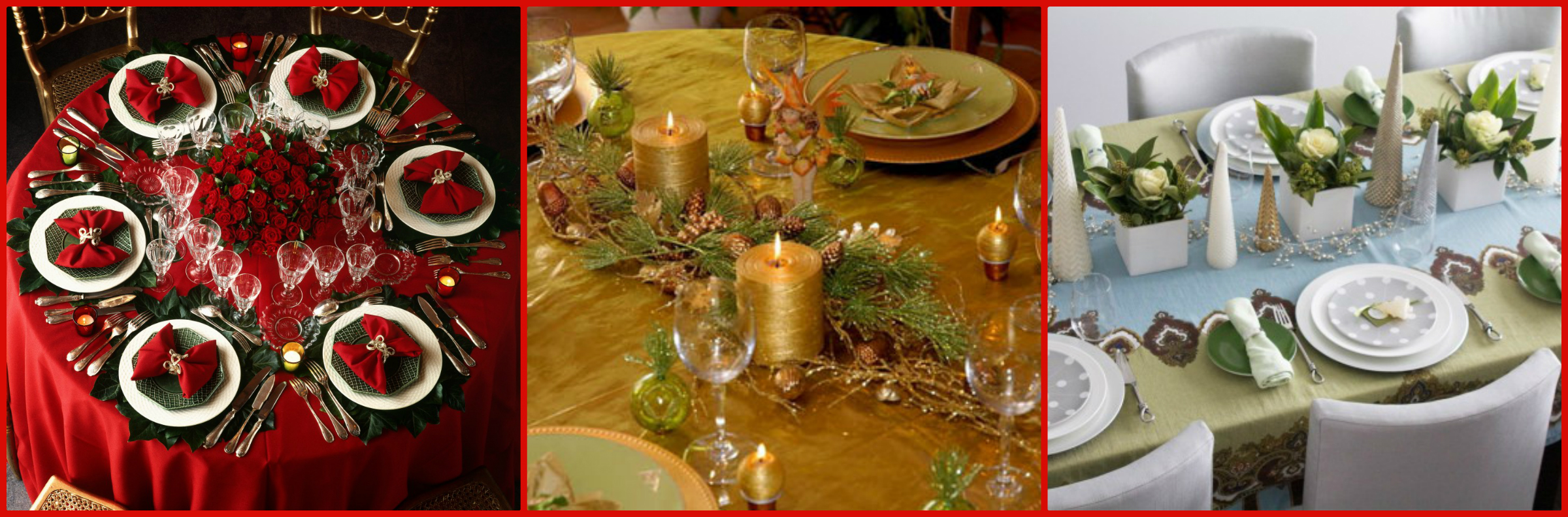 La tavola di natale idee e consigli per decorarla al meglio - Preparazione tavola di natale ...