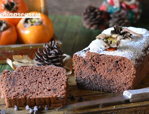 Plumcake di cachi e cioccolato