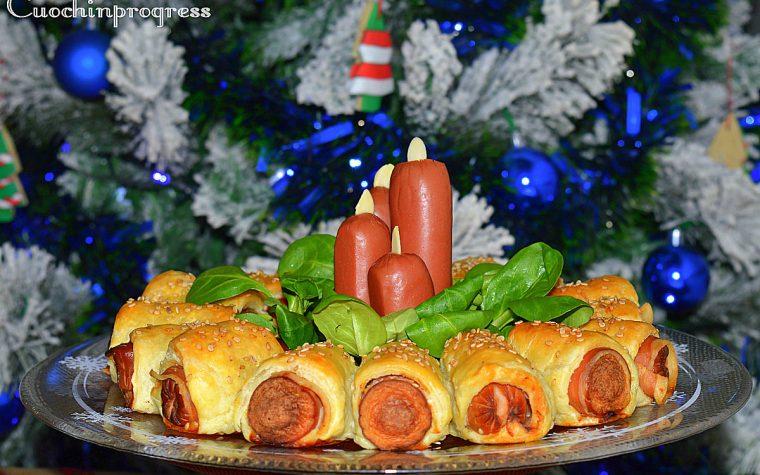 Centrotavola natalizio di sfoglia