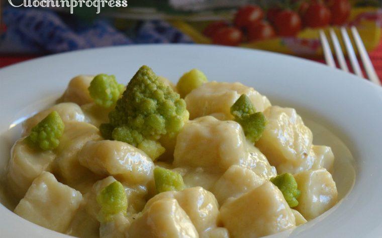 Gnocchi di ricotta con gorgonzola e broccolo