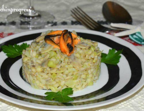 Orzotto frutti di mare e broccolo