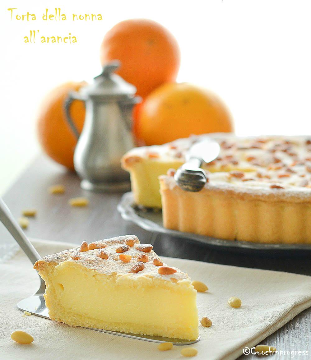 torta della nonna all'arancia
