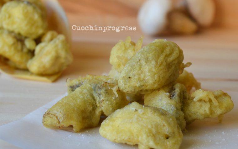 Funghi pastellati al curry
