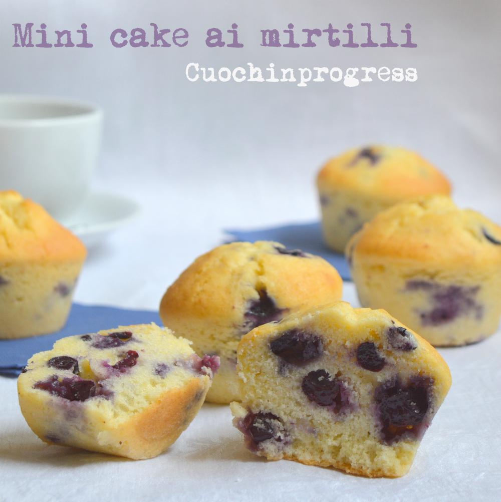 Mini cake ai mirtilli