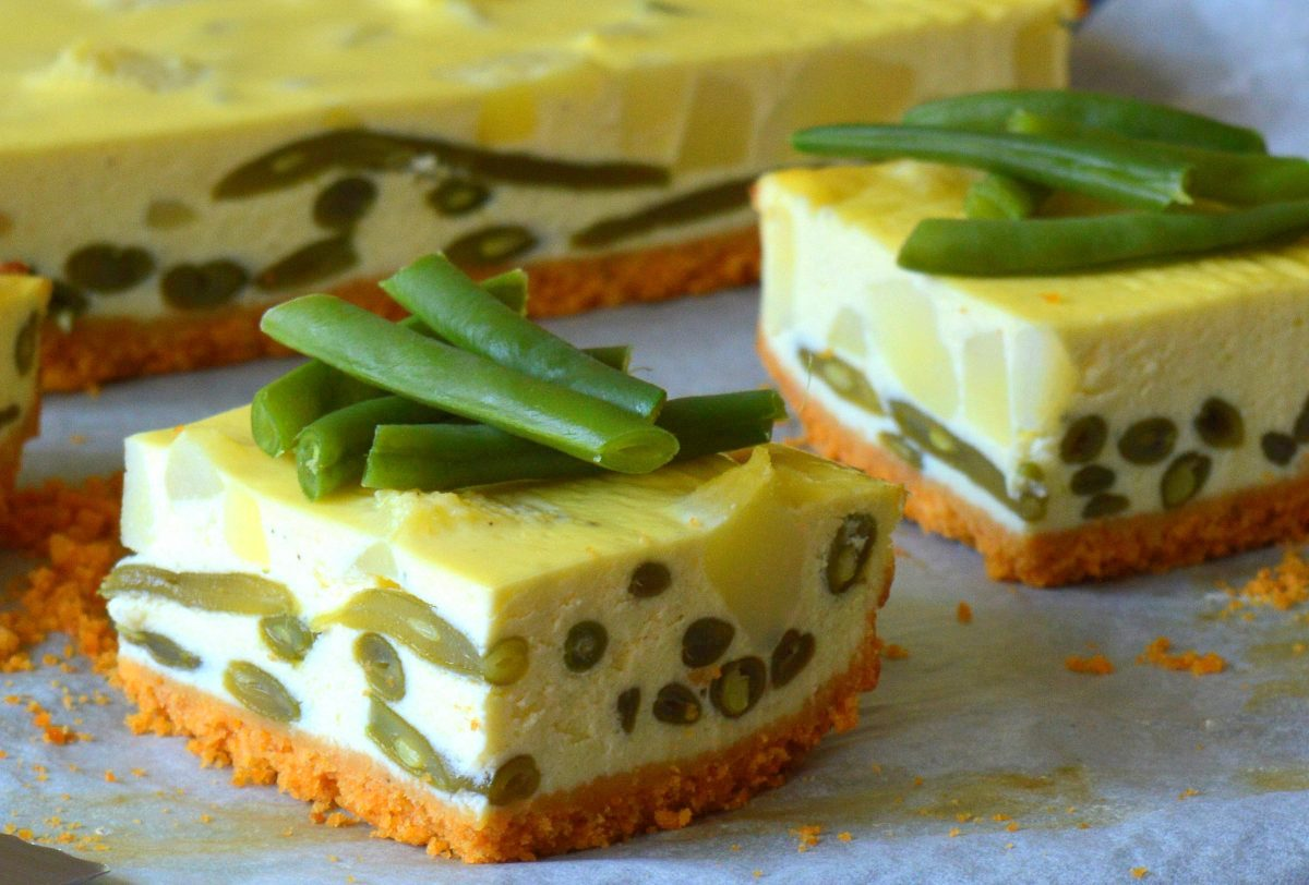 cheesecake salata fagiolini