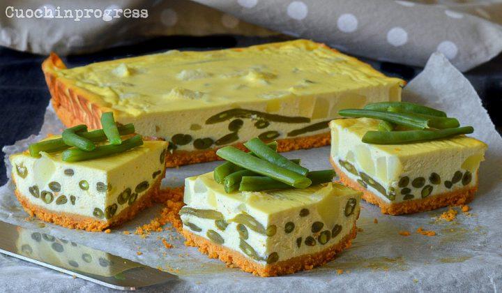 cheesecake salato ai fagiolini