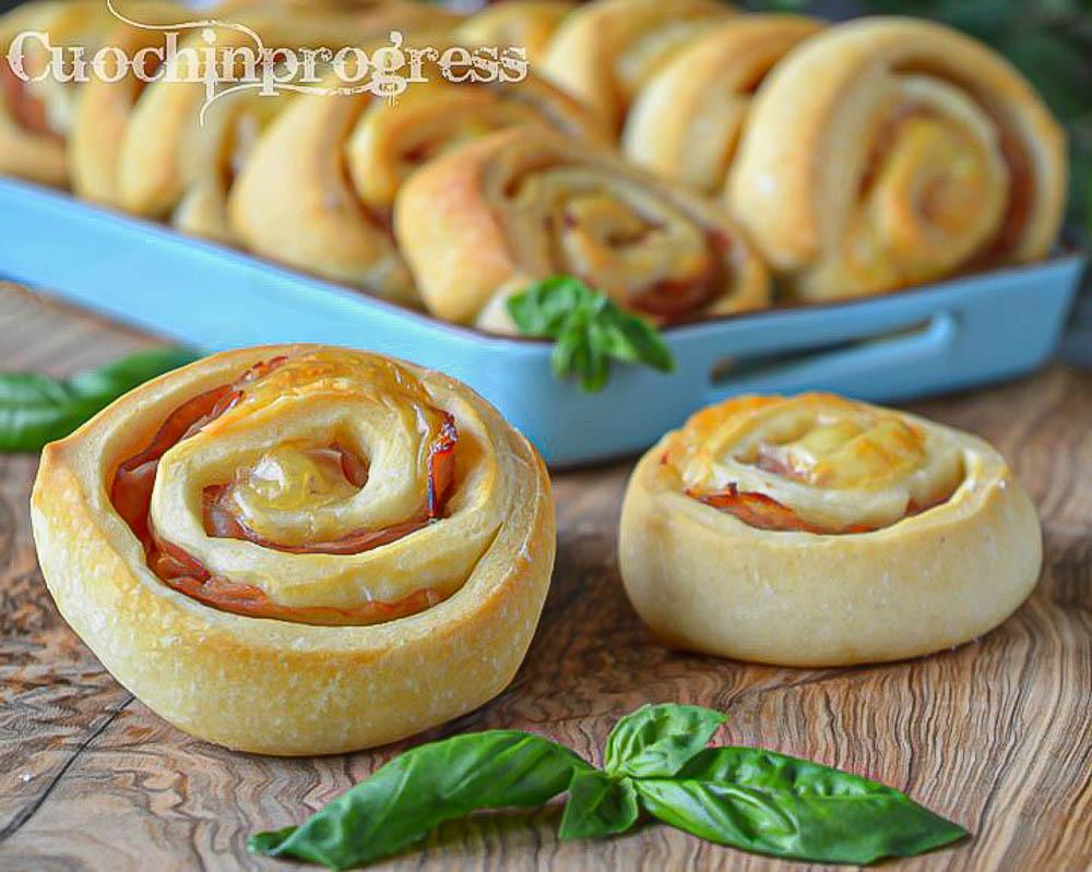 girelle di pizza prosciutto e formaggio