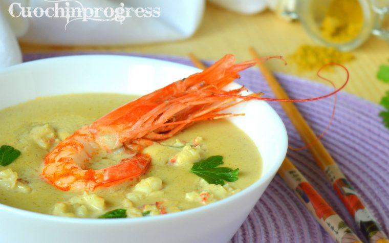 Zuppa di gamberoni al cocco