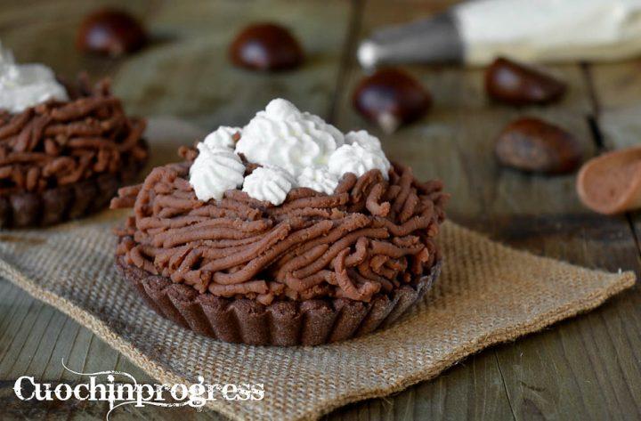 crostatine mont blanc al cacao