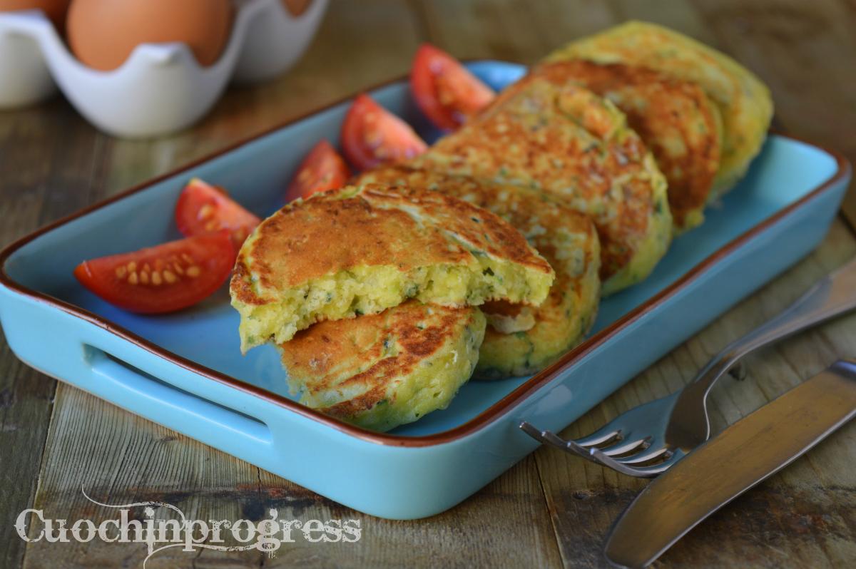 Pancakes Salati con Zucchine e Formaggio