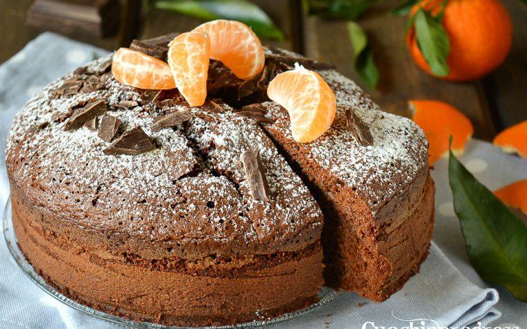 Torta al cioccolato e clementine