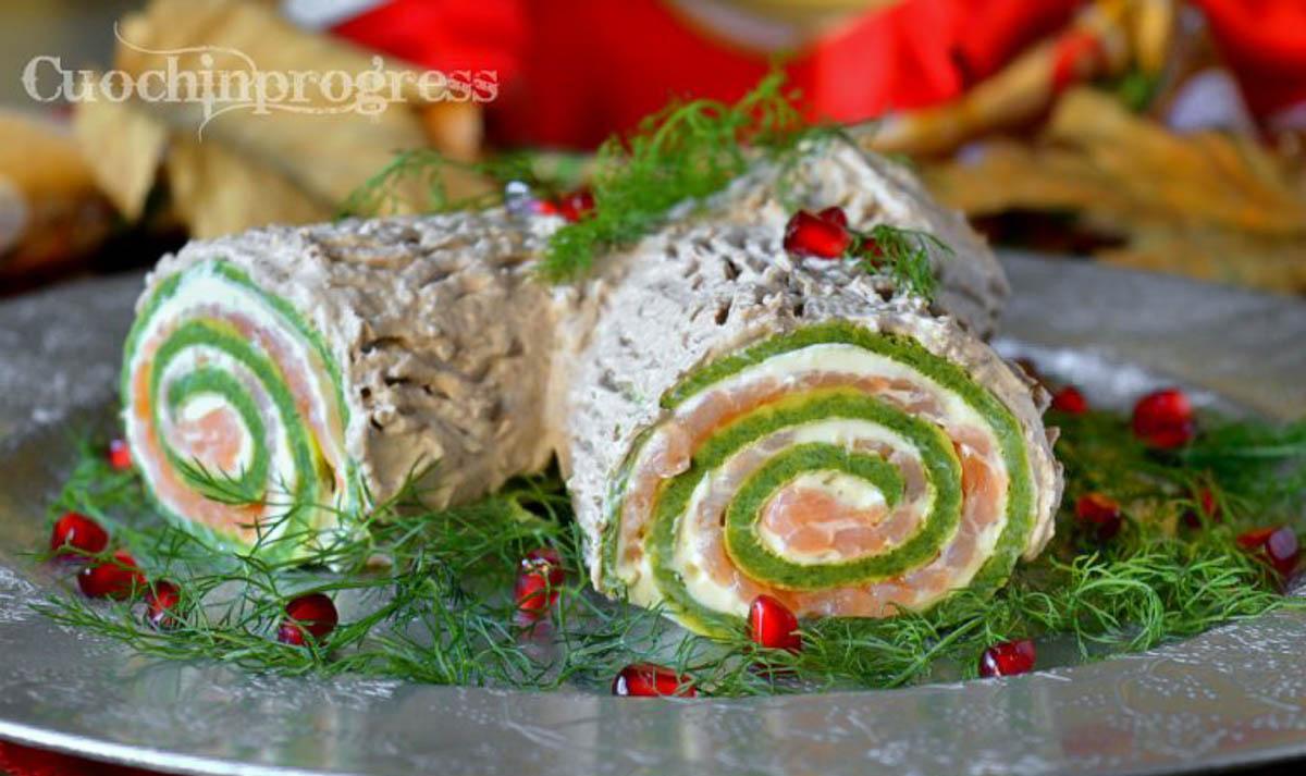 Ricetta Tronchetto Di Natale Salato.Tronchetto Salato Di Natale Antipasto Goloso E Scenografico