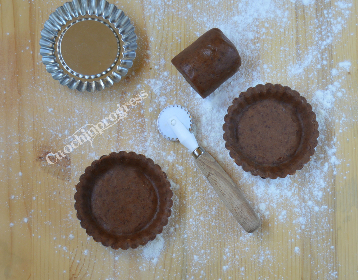 Pasta frolla cioccolato fondente e arancia