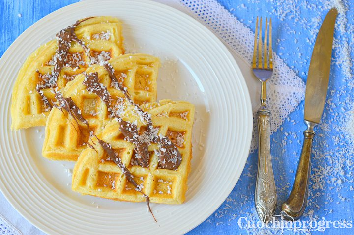waffle cocco e nutella