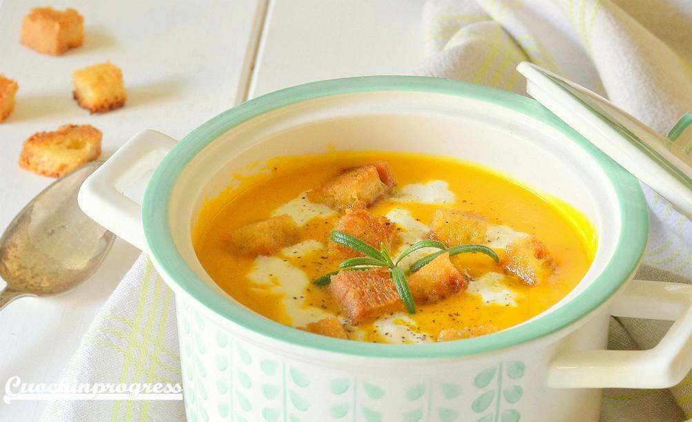 vellutata di patate carote e porri