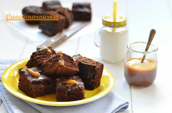 brownie cioccolato e caramello salato