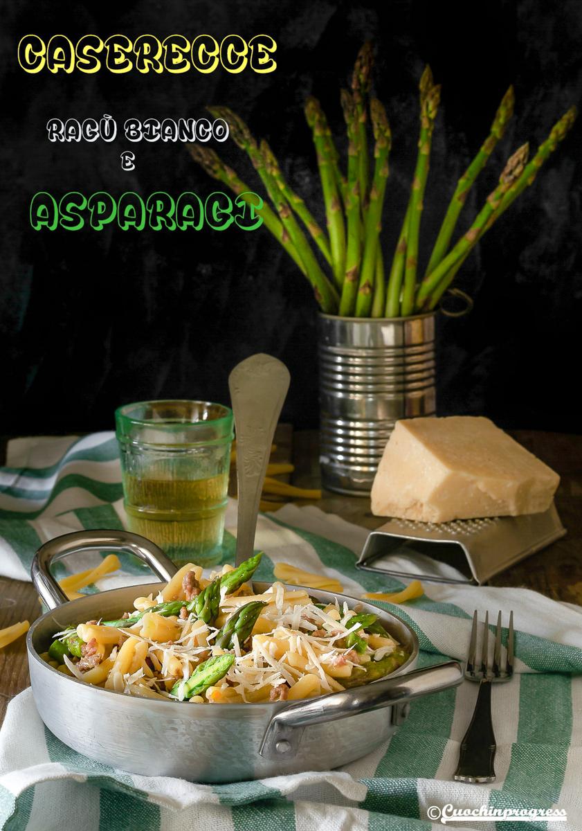 caserecce ragù bianco e asparagi