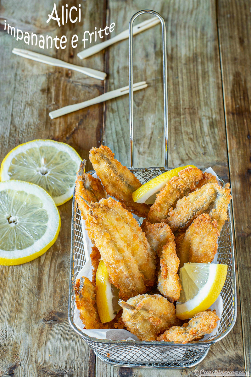 alici impanate e fritte