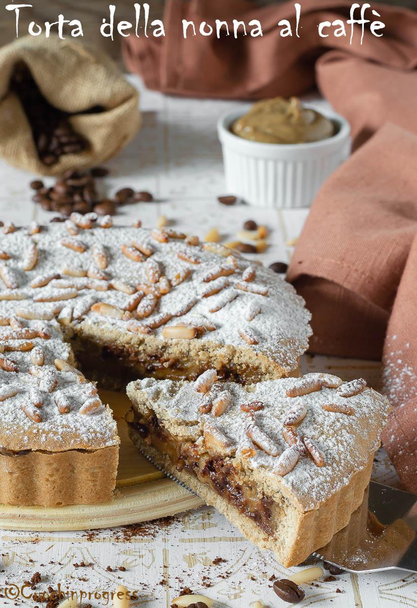Torta Della Nonna Al Caffè E Gocce Di Cioccolato Aroma Inteso