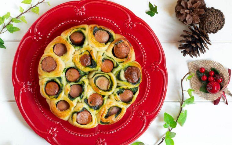 Torta salata con wurstel e spinaci