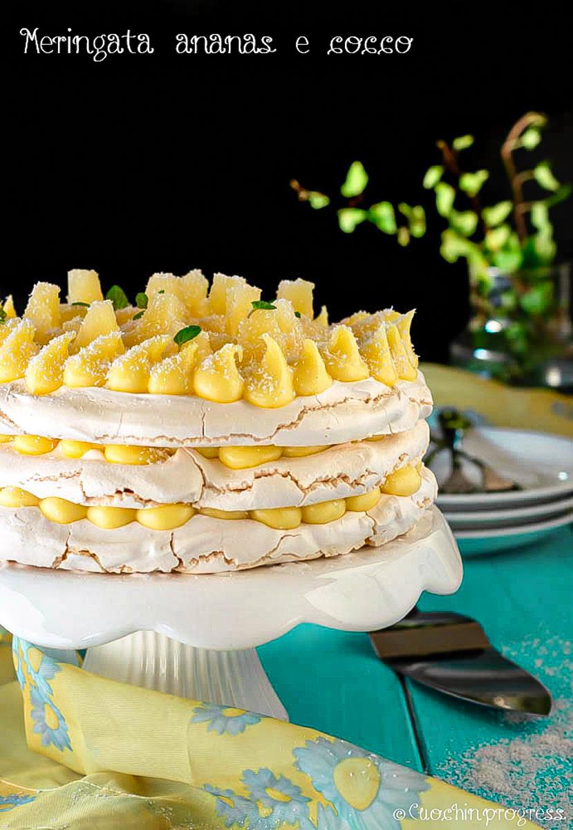 meringata ananas e cocco