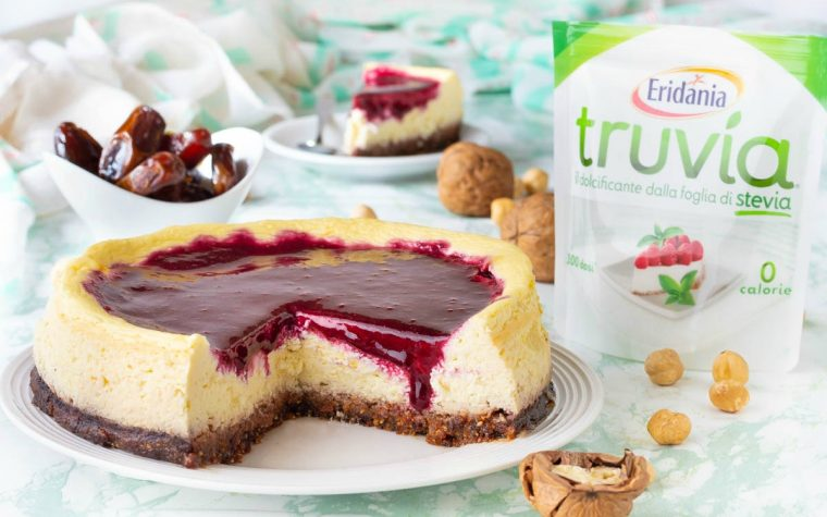 Cheesecake senza zucchero e glutine