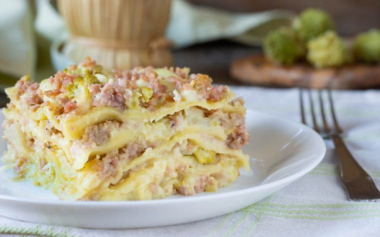 Lasagne broccolo e salsiccia