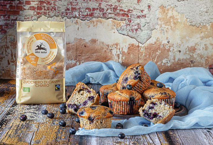 muffin di farro ai mirtilli