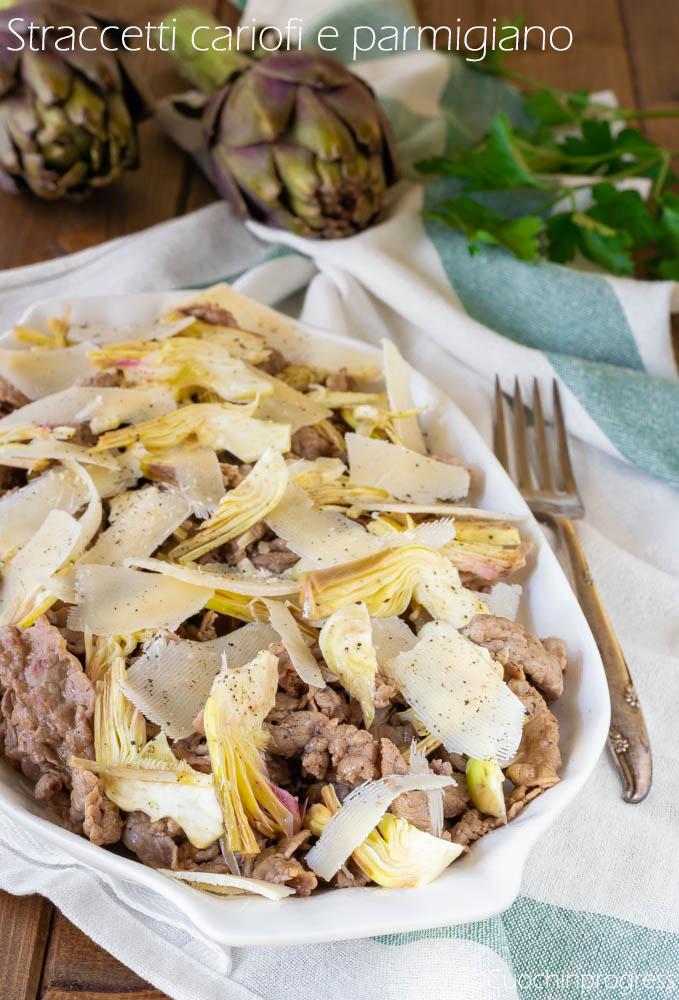 straccetti carciofi e parmigiano