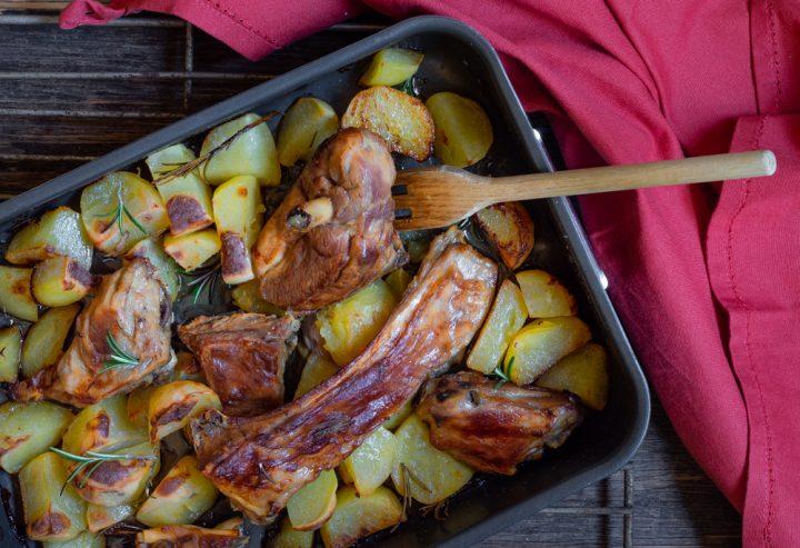 agnello al forno con patate