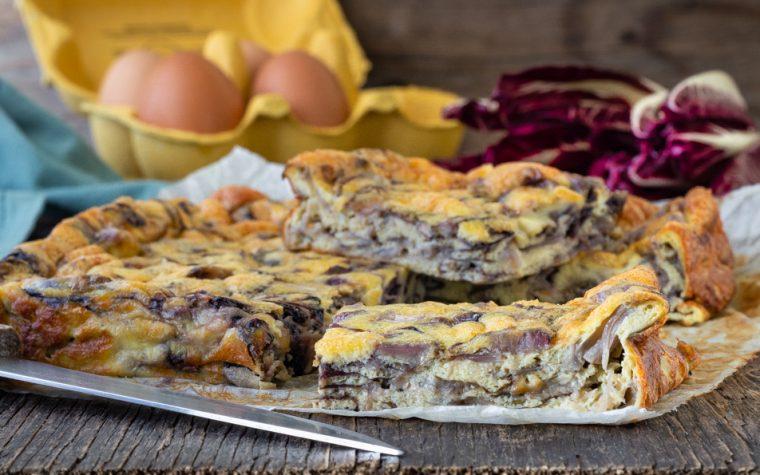 Frittata al forno con radicchio e gorgonzola