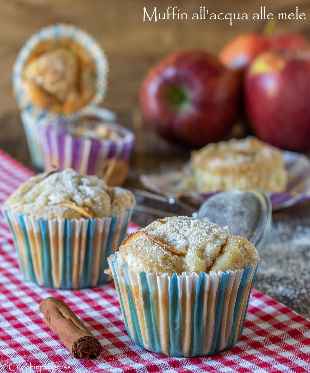 muffin all'acqua alle mele