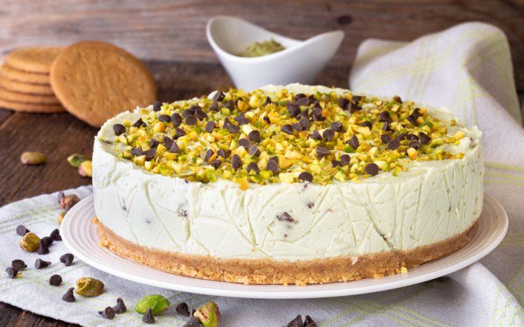 Cheesecake pistacchi e cioccolato